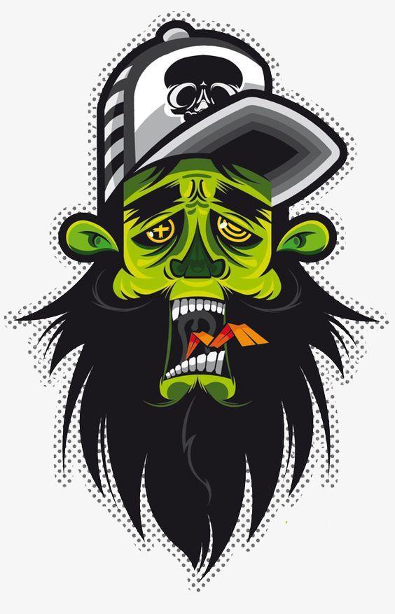 Graffiti clipart man. Frankenstein us american comics