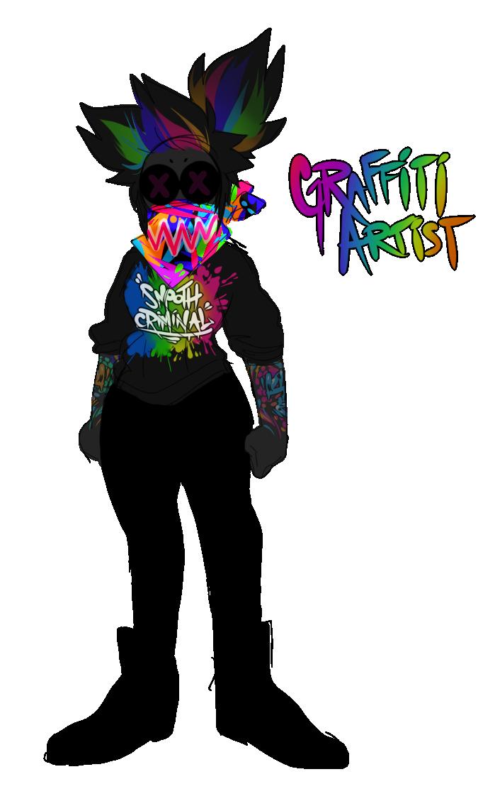 Artist by eye drool. Graffiti clipart painter