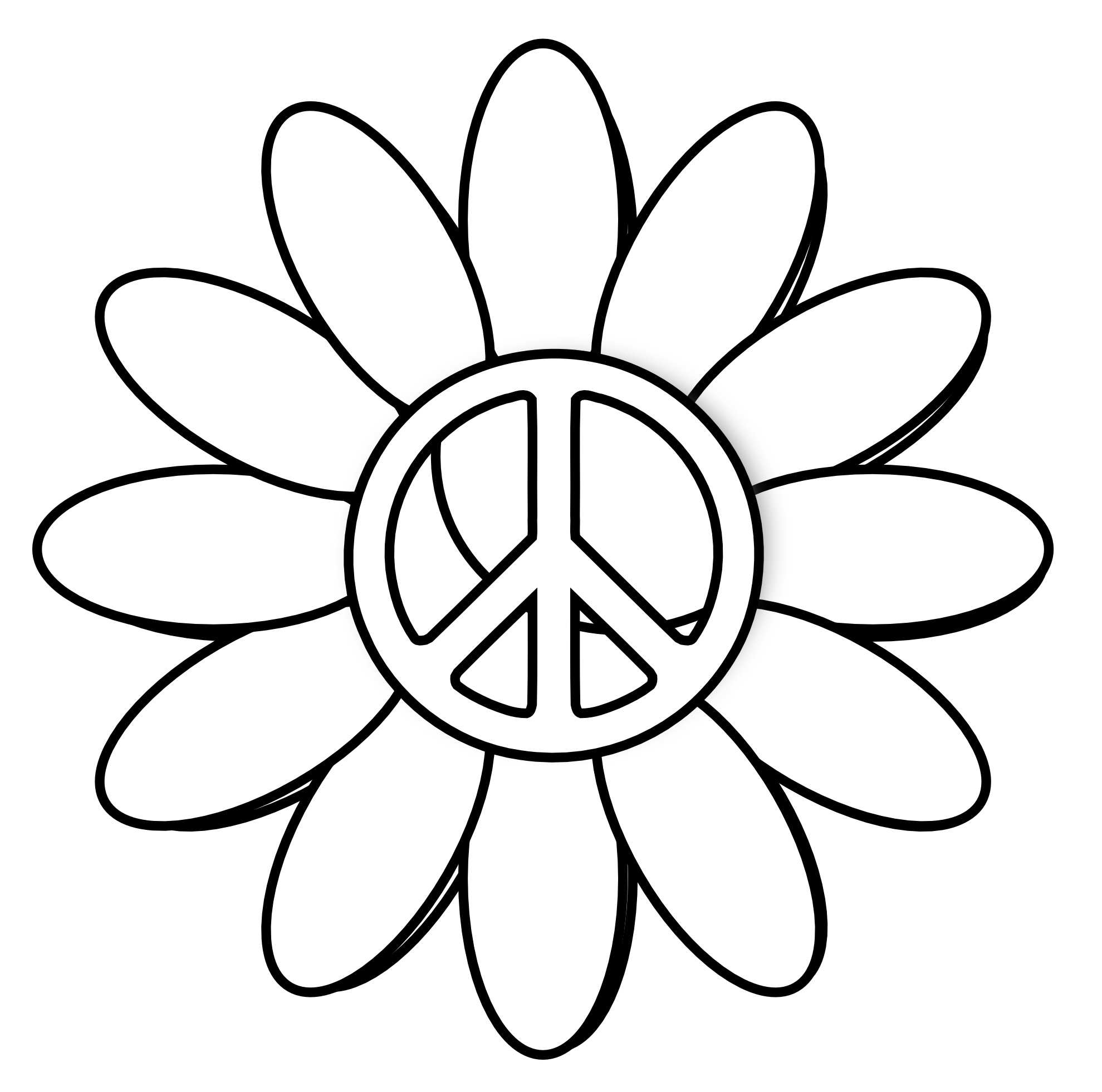 A and peace for. Thanks clipart flower