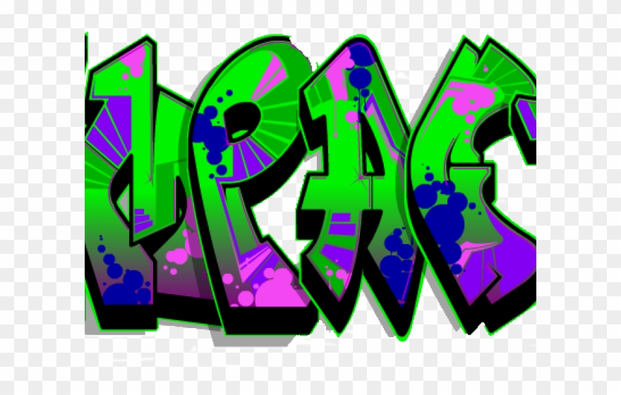 Peace sign png download. Graffiti clipart royalty free