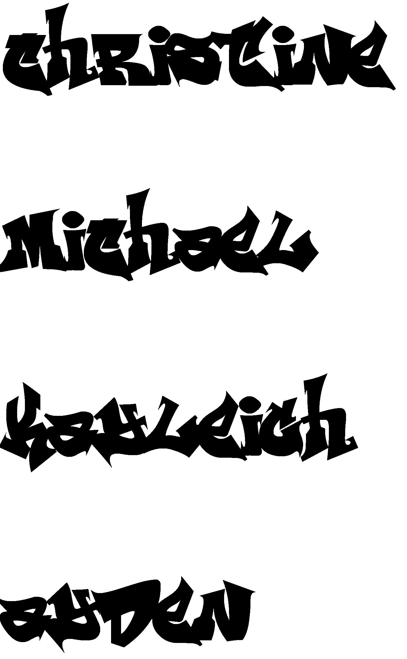 Fonts creator silhouette online. Graffiti clipart word