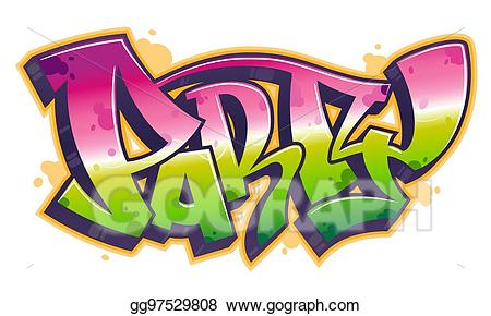 Vector party in style. Graffiti clipart word