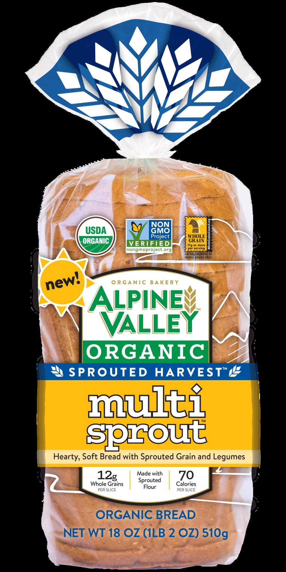 Alpine valley multi sprout. Grain clipart bakery bread