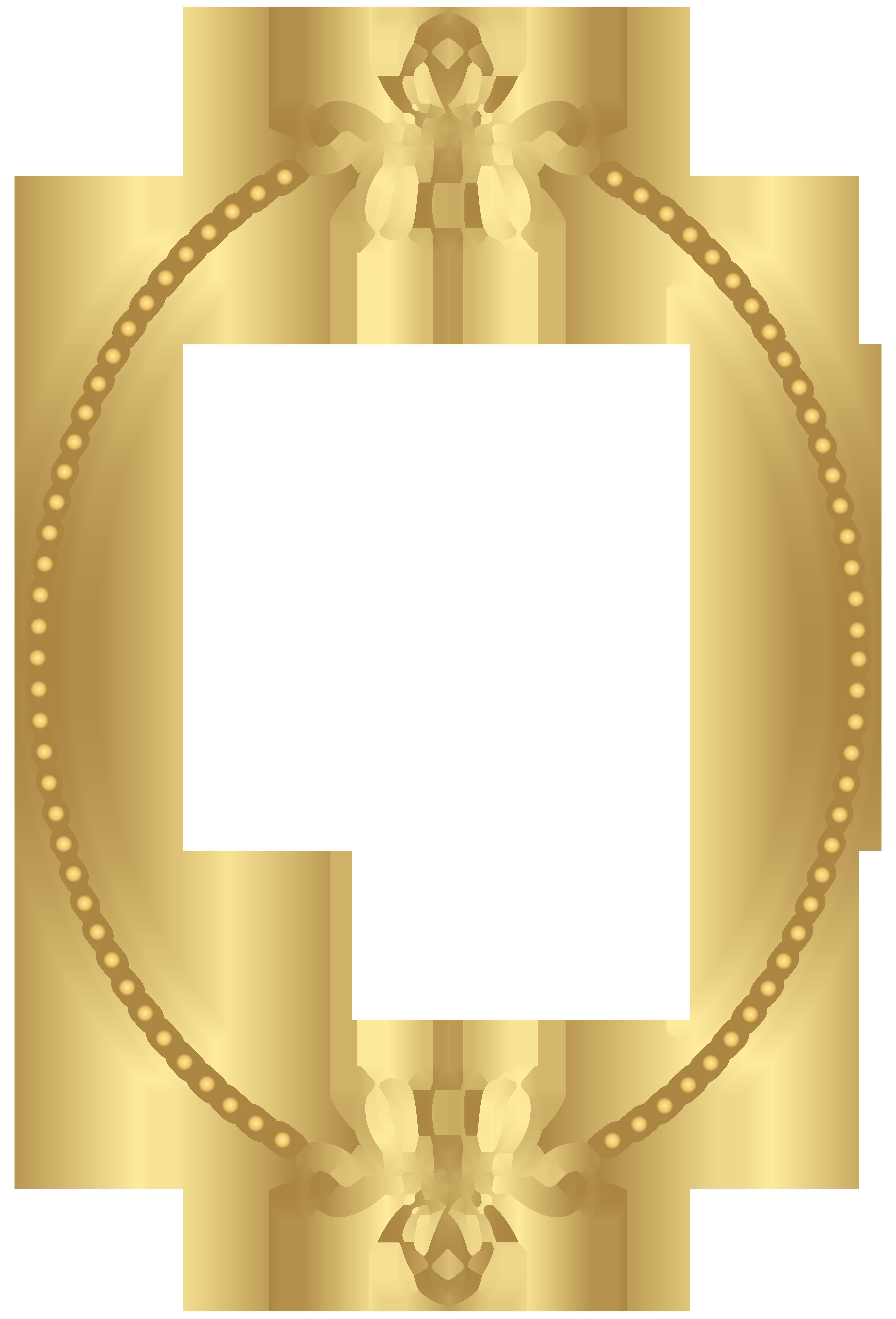 Gold oval frame png. Border transparent clip art