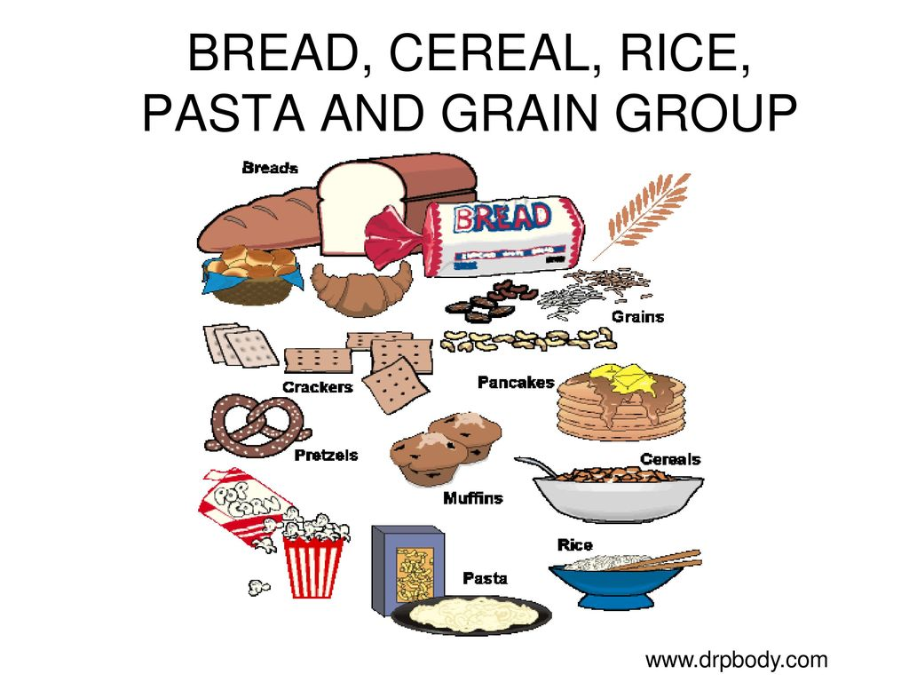 Food groups ppt download. Grains clipart bread cereal rice pasta group