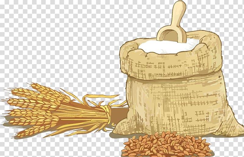 Grain clipart ceral. Malt beside sack illustration