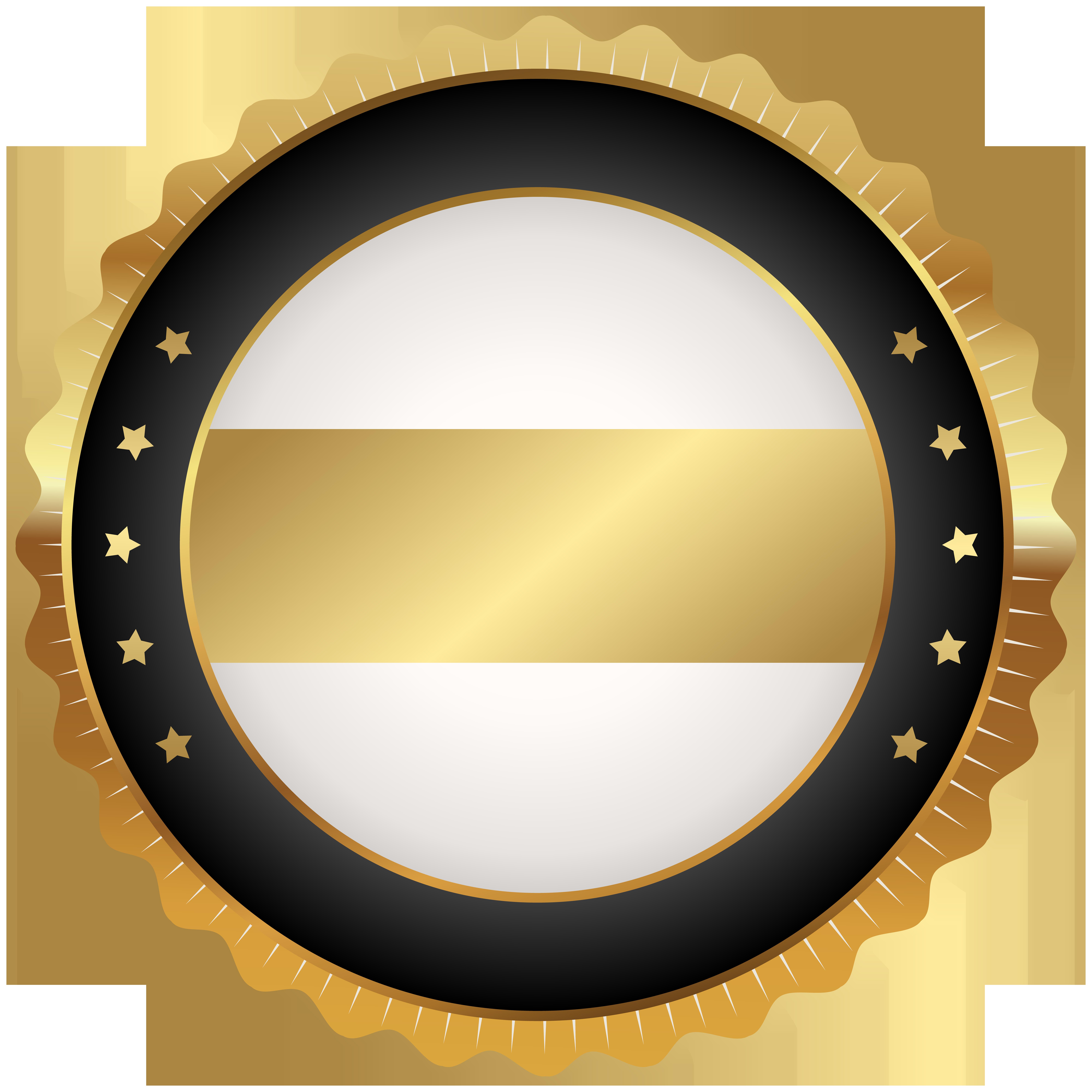 Seal badge black gold. Grain clipart circle