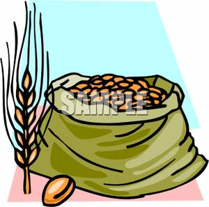 Clip art image wheat. Grains clipart sack grain
