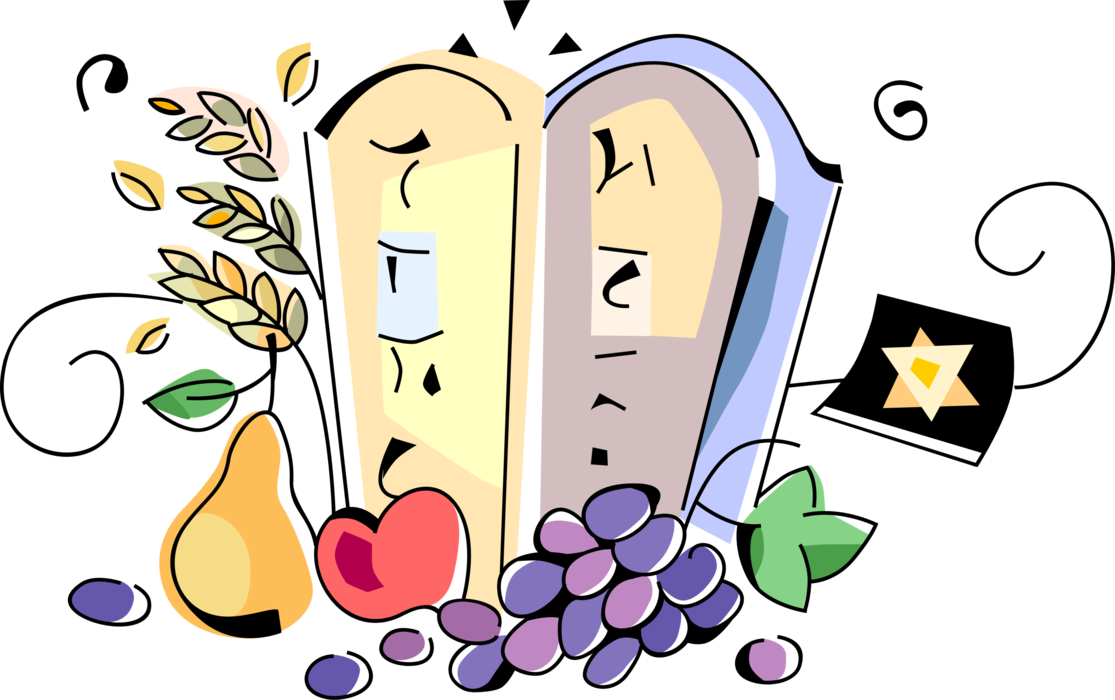 Ten commandments shavuo fruits. Wheat clipart cartoon