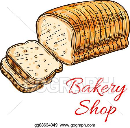 Vector art wheat sketch. Grains clipart bakery bread