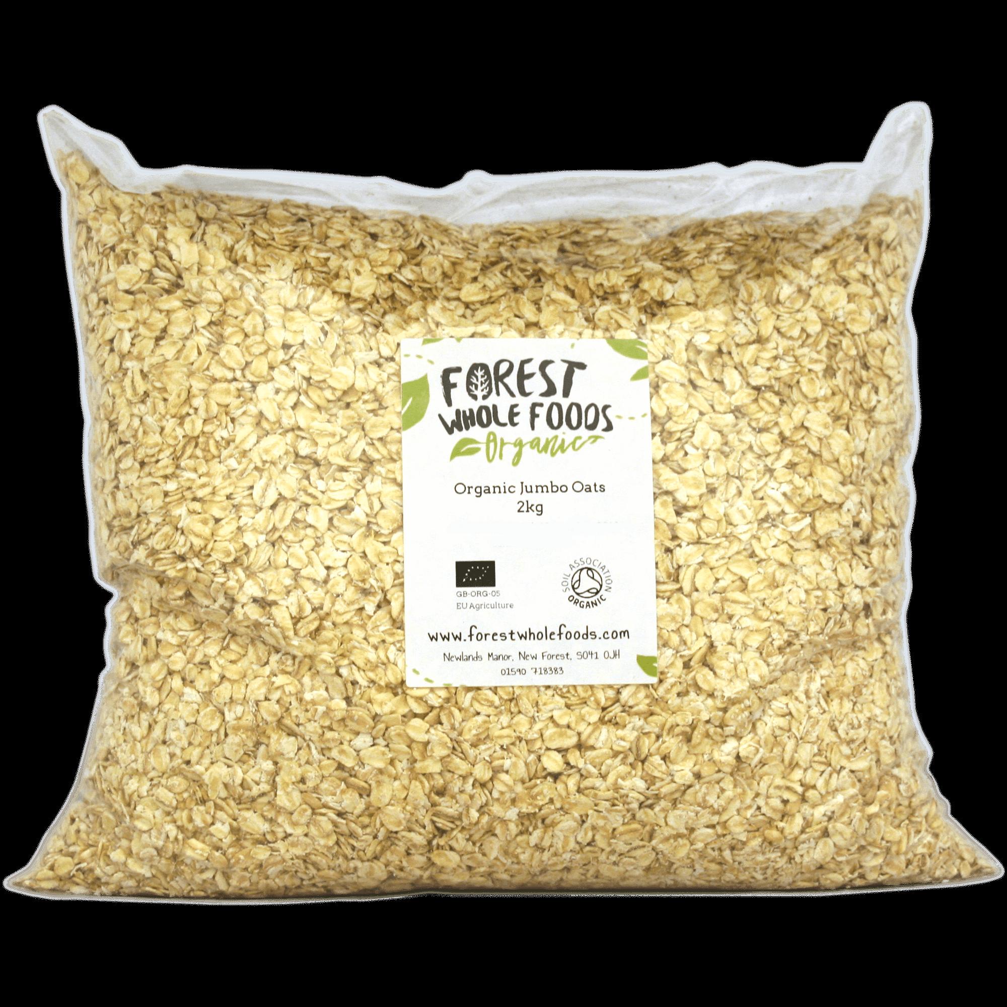 Organic jumbo porridge forest. Grains clipart oats
