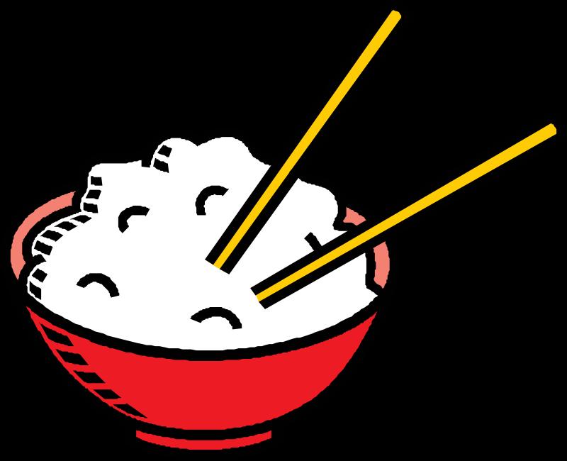 Bowl of medium image. Grain clipart rice