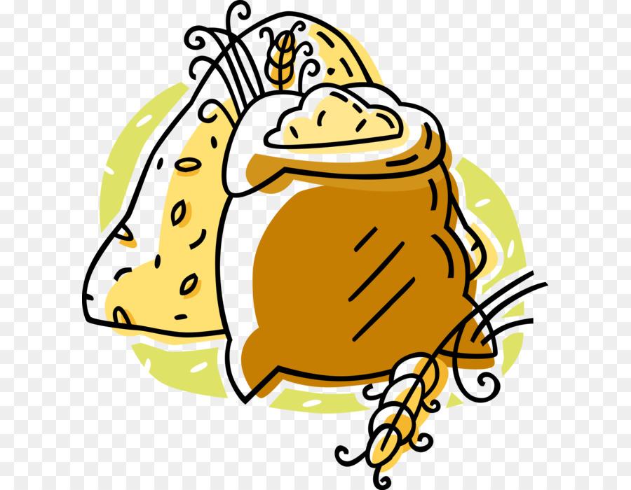 Grains clipart sack grain. Wheat cartoon illustration drawing