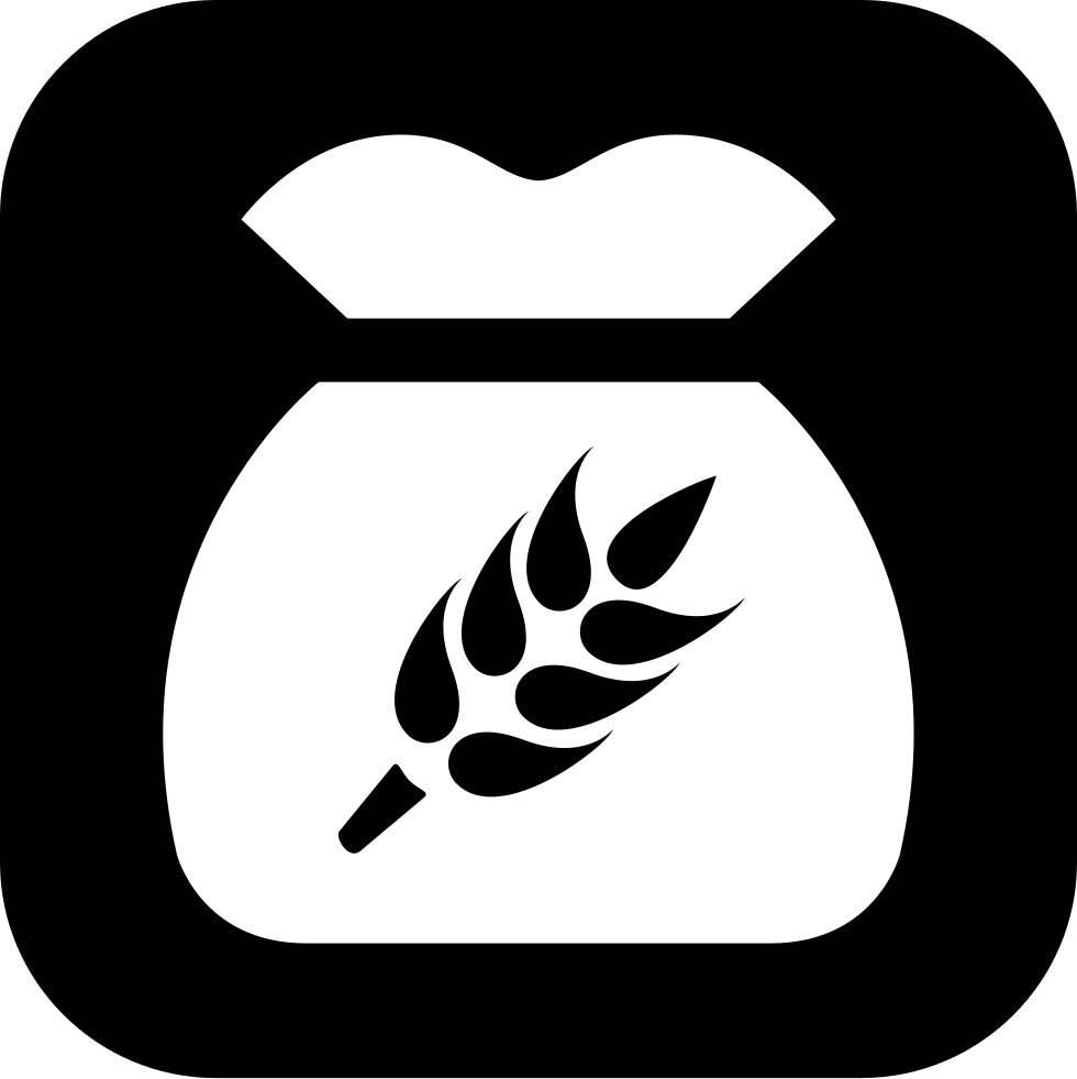 Svg png icon free. Wheat clipart grain bag