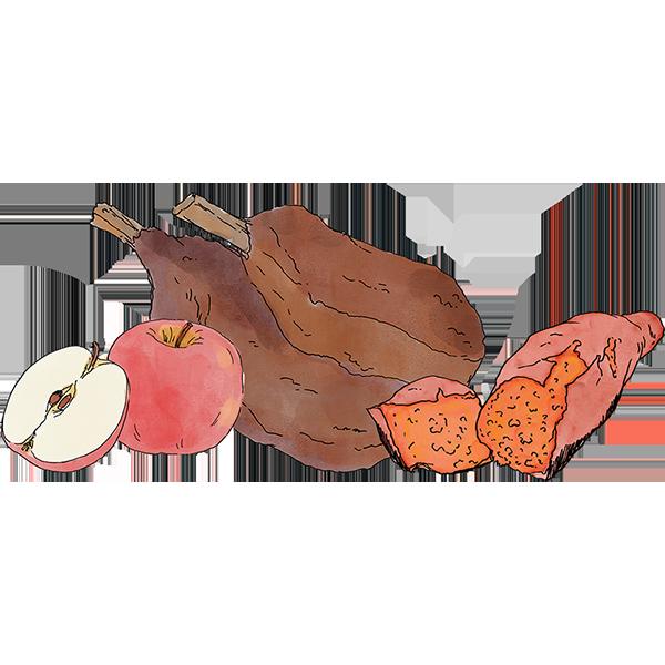 Pork sweet potato apple. Grains clipart 5 food