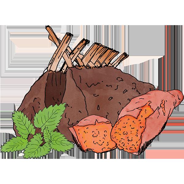 Free lamb sweet potato. Grain clipart unprocessed