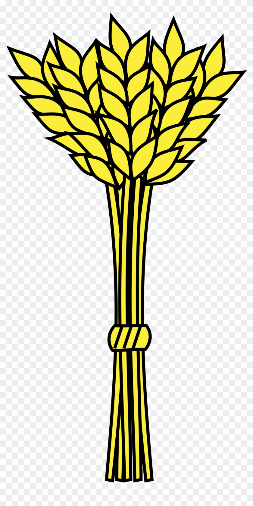 Wheat clipart wheat stalk. Grain bundle of hd