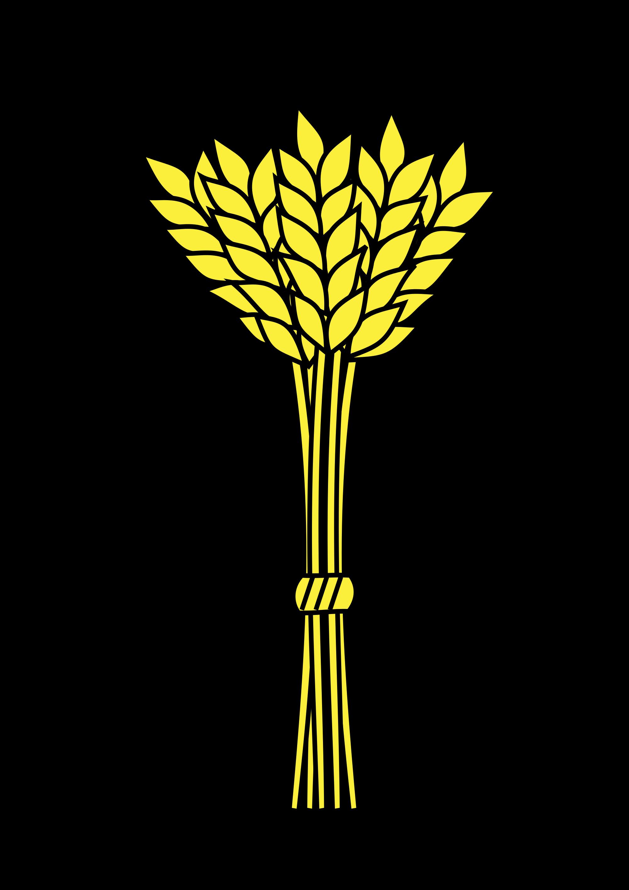 grains clipart wheat stem