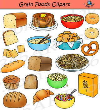 And breads food groups. Grains clipart