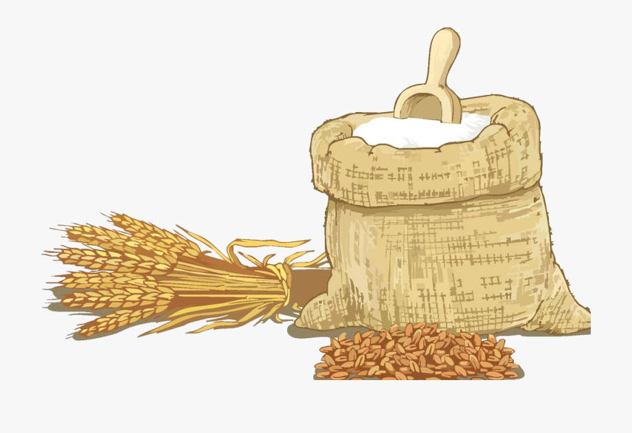 Grains sack sacks of. Grain clipart wheat flour