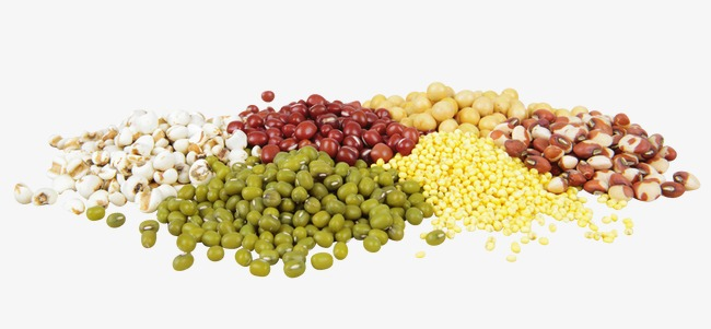 Whole red beans green. Grains clipart