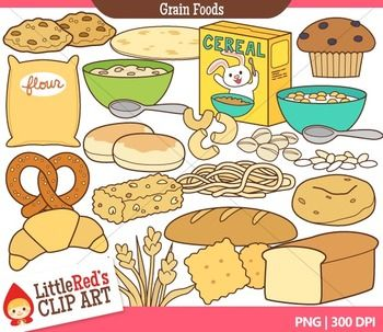 Bread and food clip. Grains clipart