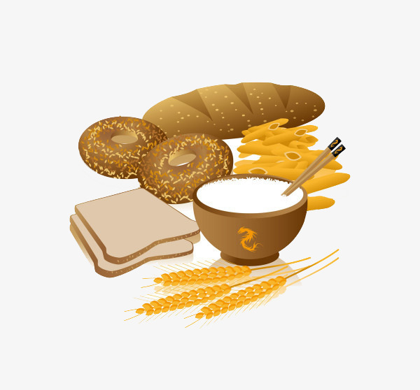 Grains clipart. Cartoon wheat grain products
