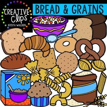 And creative clips digital. Grains clipart bread