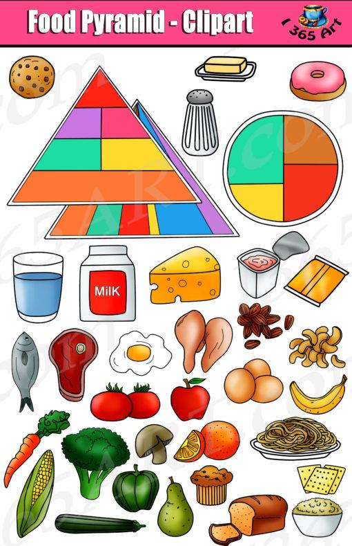 Grains clipart food pyramid. Set kid s nutrition
