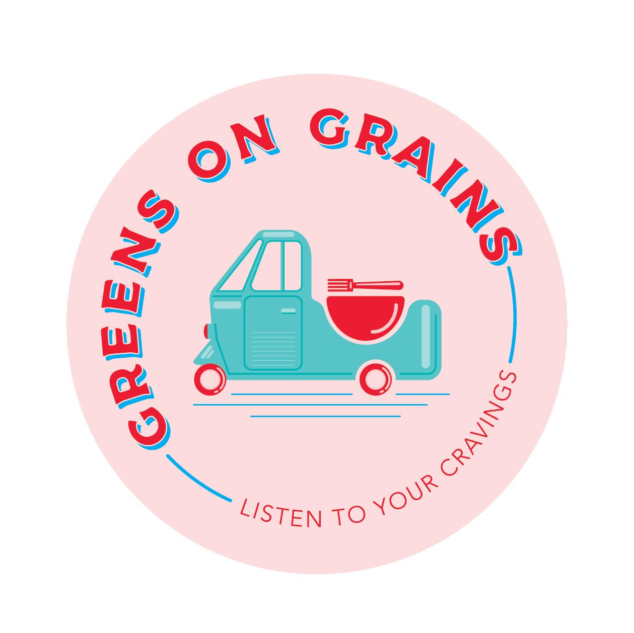 Grains clipart grain truck. Modern colorful logo design