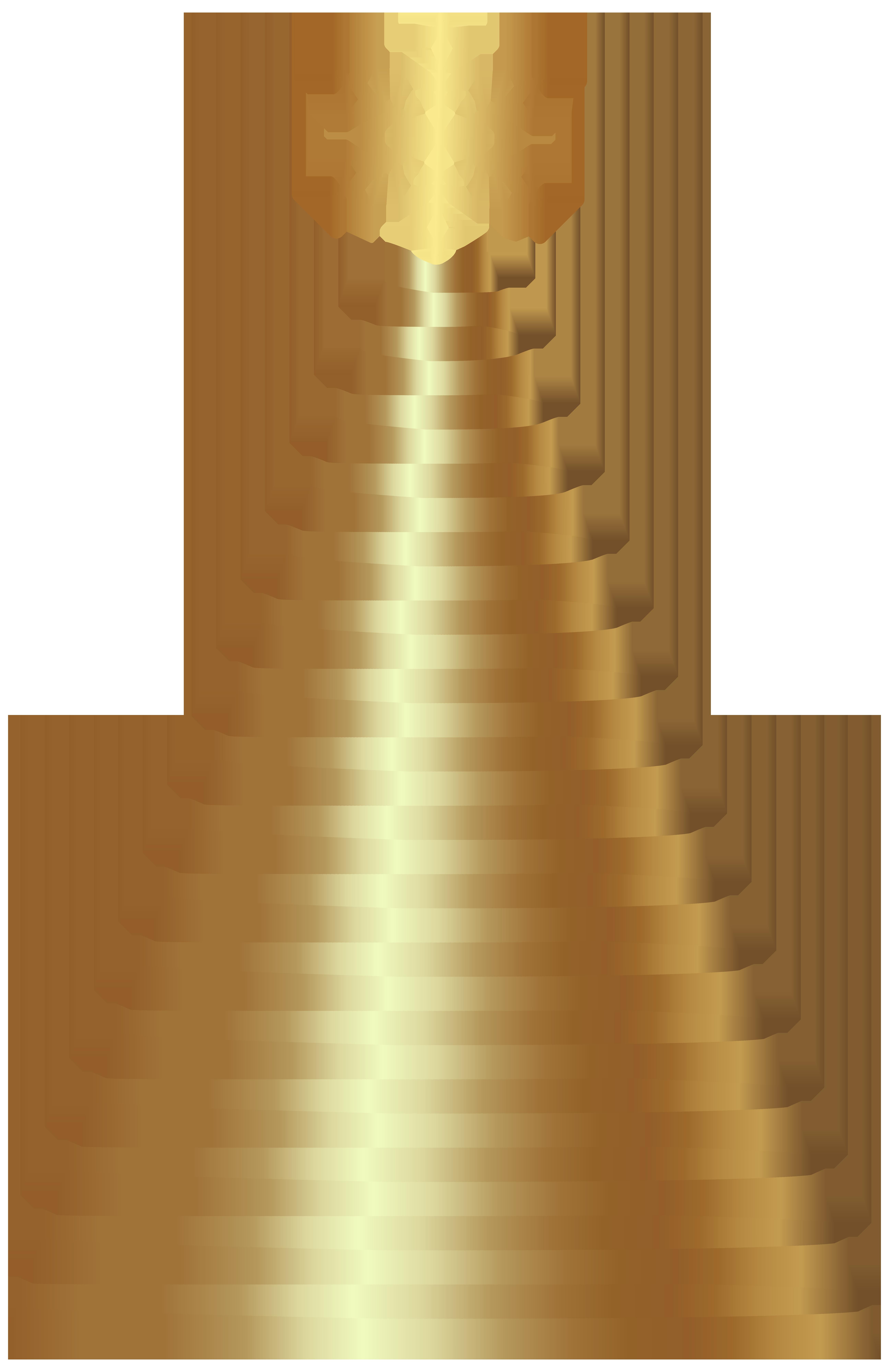 Gold deco christmas clip. Grains clipart tree