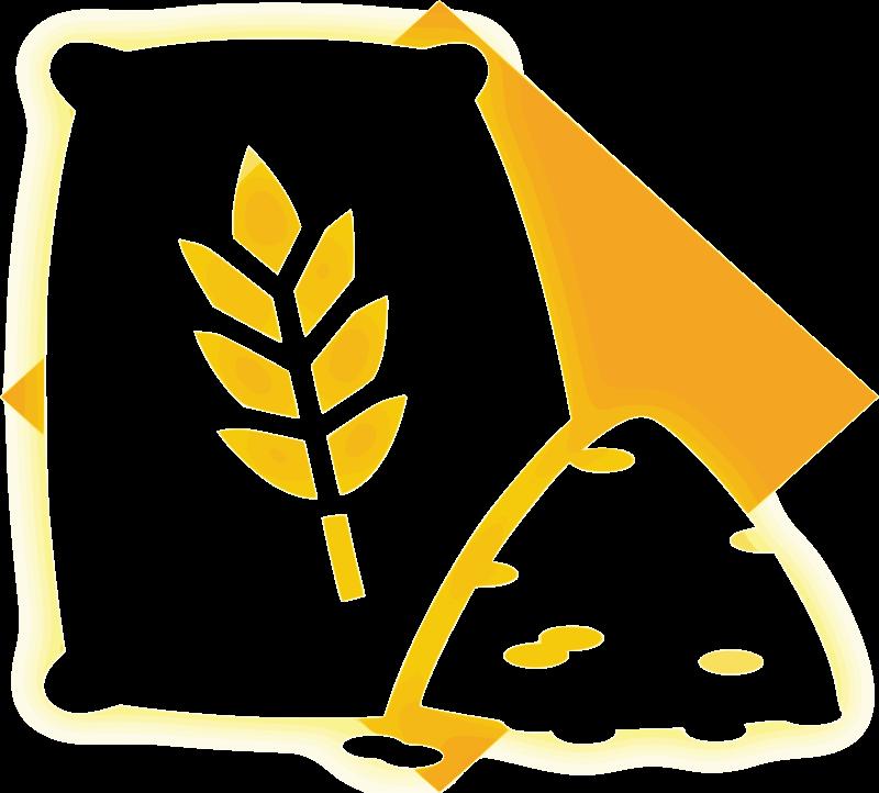 Grain icon medium image. Grains clipart wheat leaves