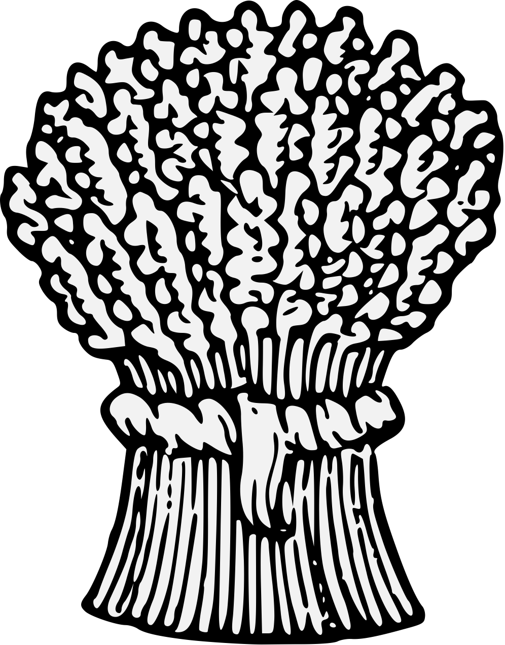 Stalk drawing at getdrawings. Grains clipart wheat shock