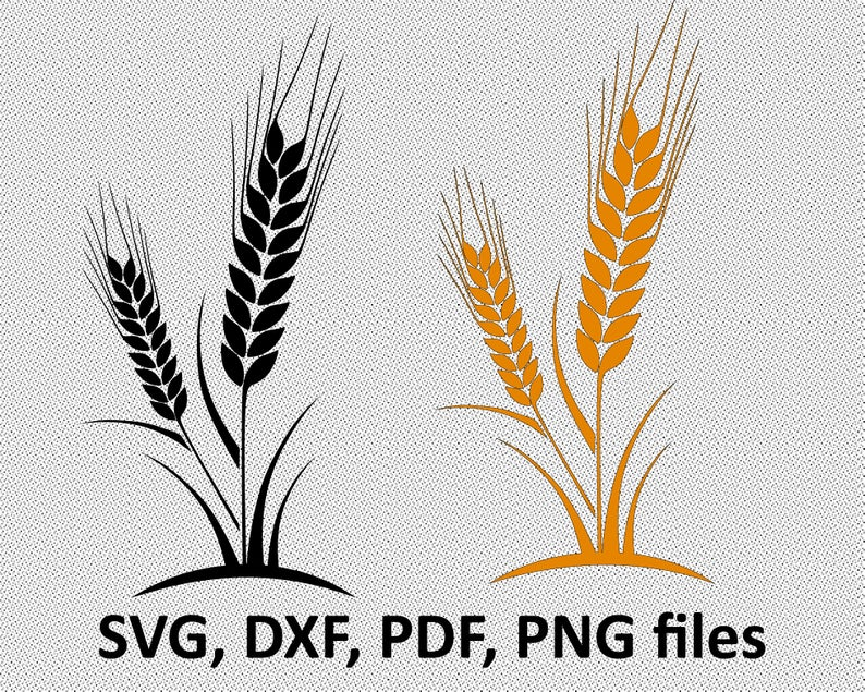 Wheat clipart wheat harvest. Svg file cut silhouette