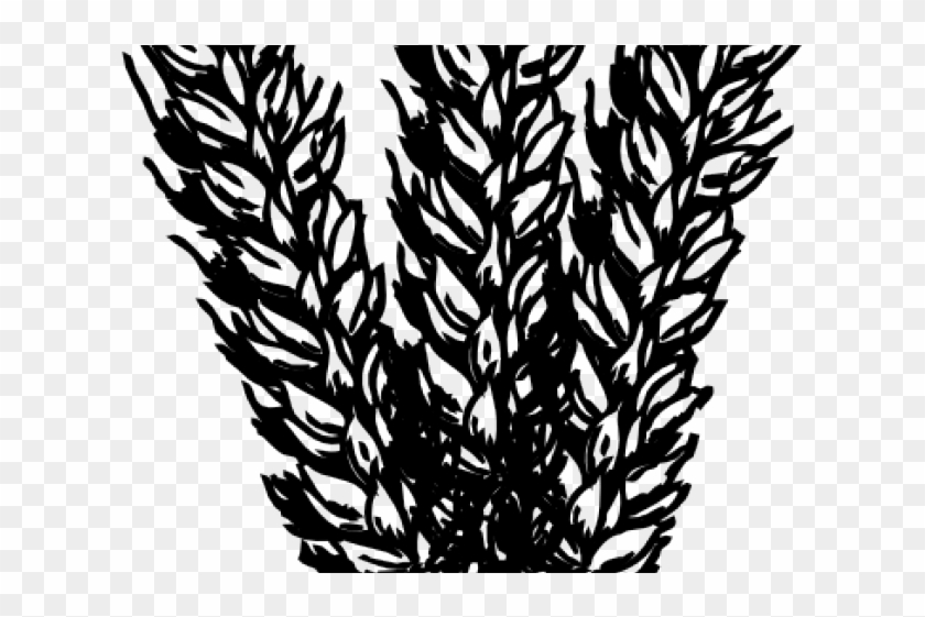 Clip art black and. Grains clipart wheat stalk
