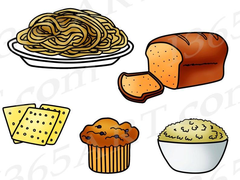 Grains clip art food. Bread clipart grain