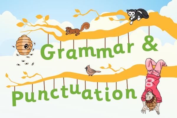 Conquer colons vanquish verbs. Grammar clipart