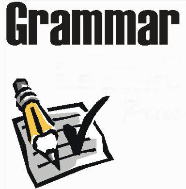 Grammar clipart. Teaching in foreign language