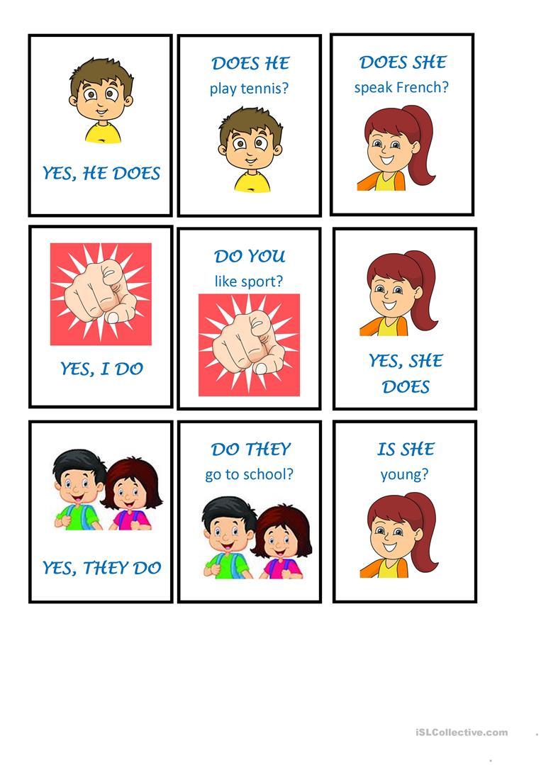 Memory game using verbs. Grammar clipart auxiliary verb