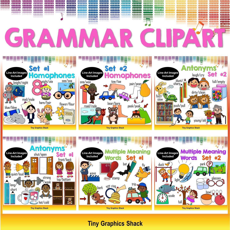Ela bundle tiny graphics. Grammar clipart clip art