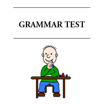 Grammar clipart english student. Test the basics answer