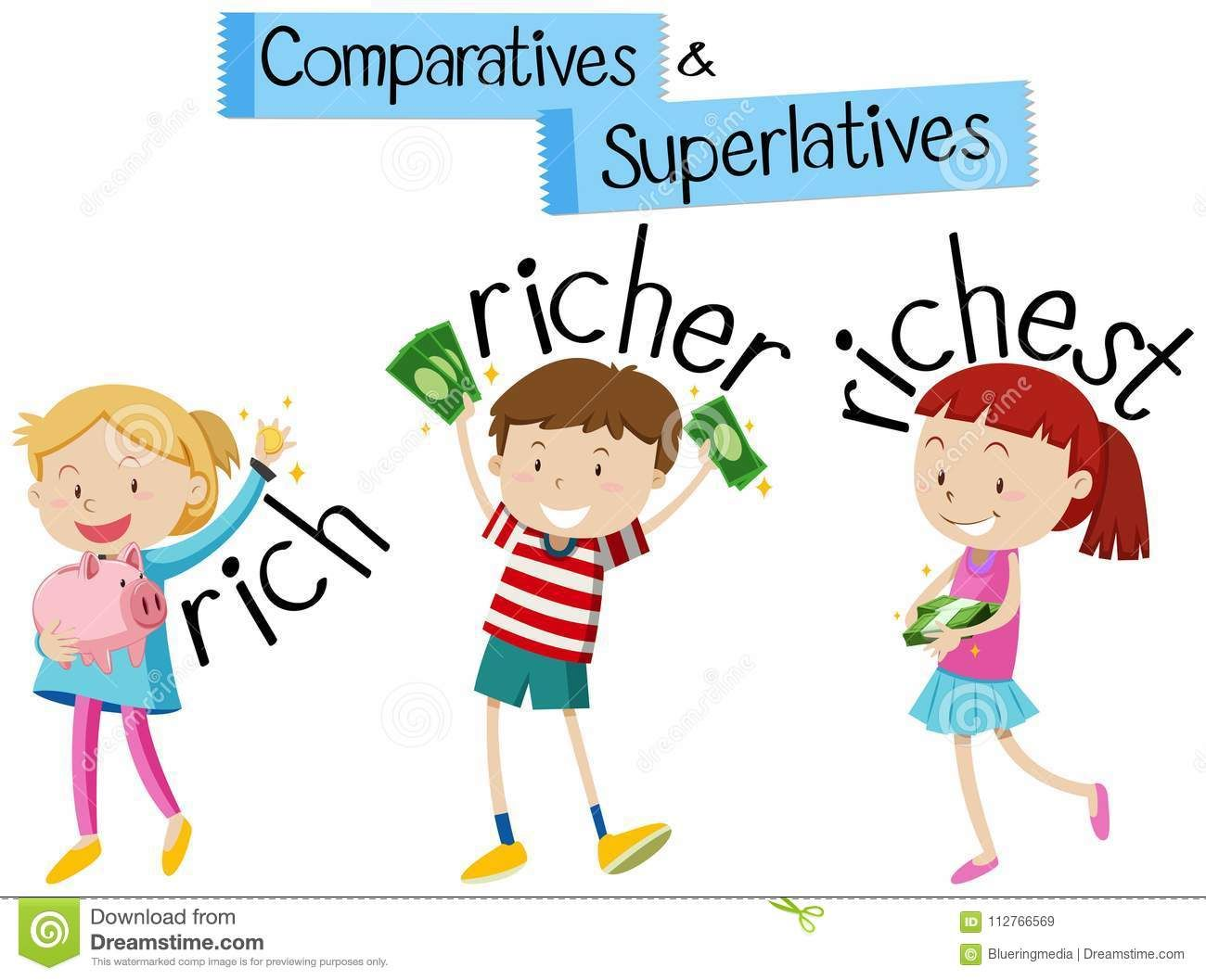 Grammar clipart english student. Illustration about for comparatives