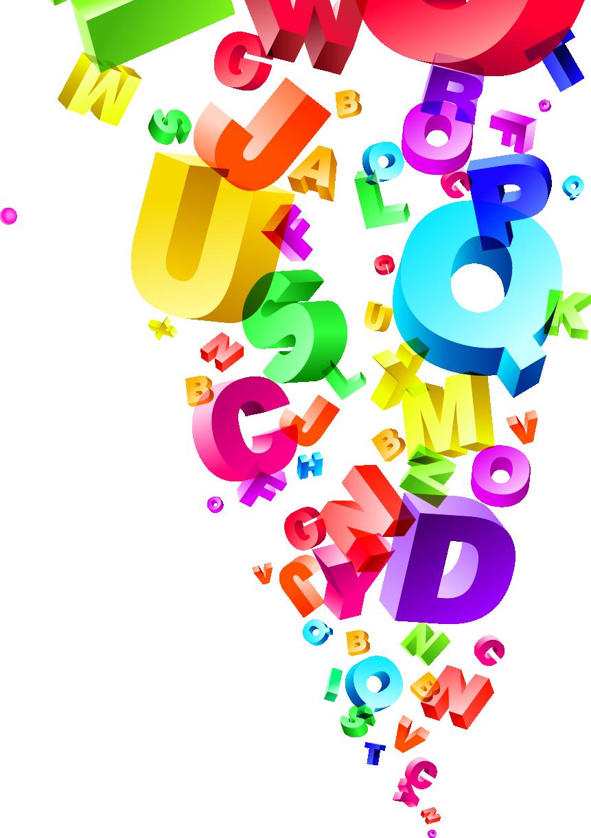 English alphabet royalty free. Grammar clipart illustration
