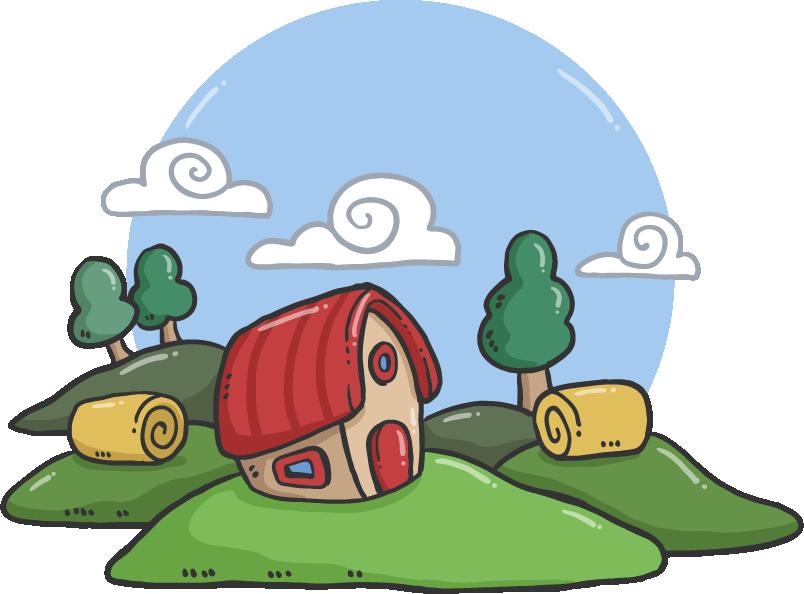 English sentence word housing. Grammar clipart illustration