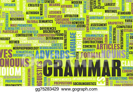 Grammar clipart illustration. Stock illustrations