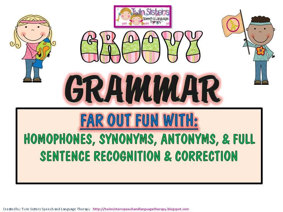 Grammar clipart language literacy. Twin speech llc groovy