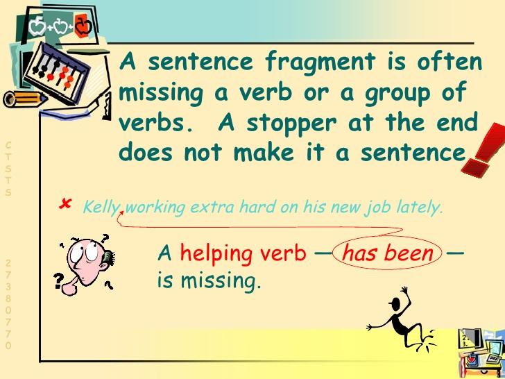 Fragments . Grammar clipart sentence fragment
