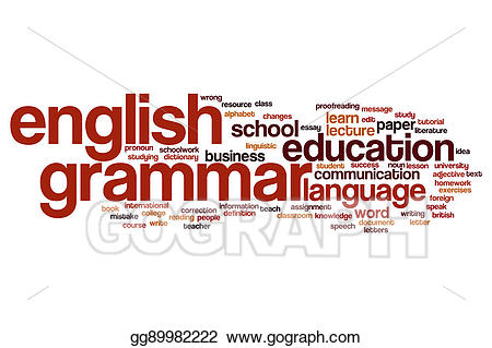 Stock illustrations english . Grammar clipart word cloud