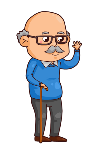 collection of high. Grandfather clipart