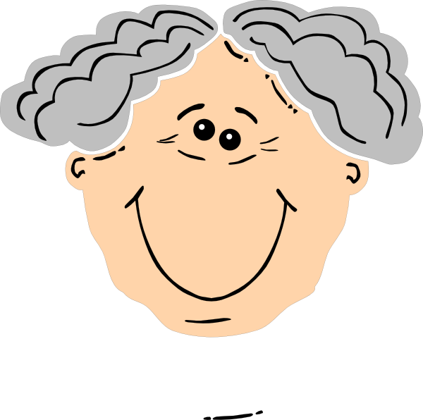 Clipart smile grandma. Grandpa clip art at